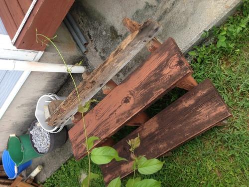 ウッドデッキを濡れ縁へ 施工前3